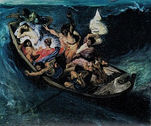 Eugène DELACROIX Jésus sur le lac
