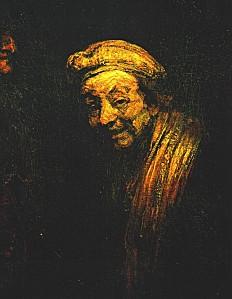 REMBRANDT Auto-portrait à la fin de sa vie