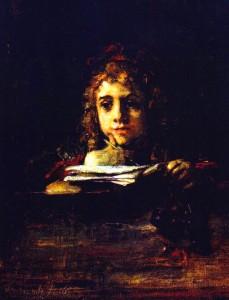 REMBRANDT Titus à son pupitre