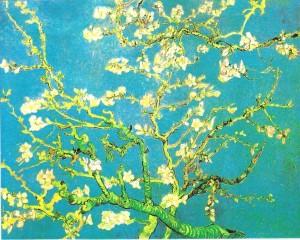 VAN GOGH une branche d'amandier en fleurs